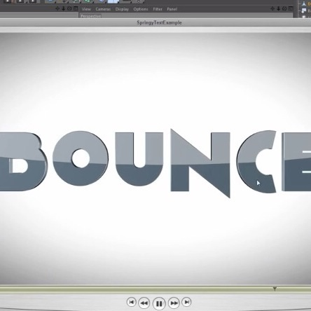 cinema 4d tutorial bouncy title