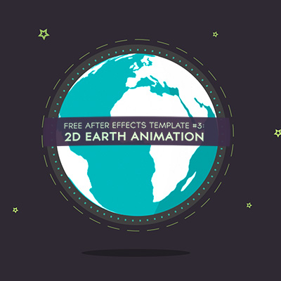 Free After Effects Template #3 : 2D Earth Animation